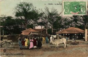 CPA Fortier 72, Thiés- Le Marché, SENEGAL (761782)