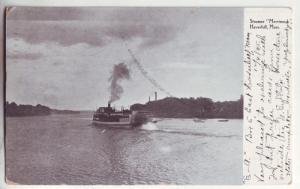 P223 JL 1905 haverhill mass postcard steamer merrimack
