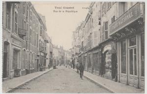 France Toul illustré RueRepublique Postcard cpa