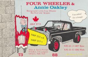 LANGTON , Ontario , 50-60s ; QSL Radio Postcard ; #2