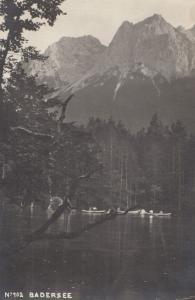 Badersee Boats Antique German Postcard