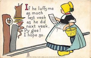If He Luffs me as much as He Did Next Week Valentine Raphael Tuck Postcard