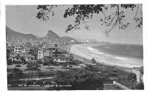 Rio De Janeiro Brazil Leblon E Ipanema Real Photo Postcard