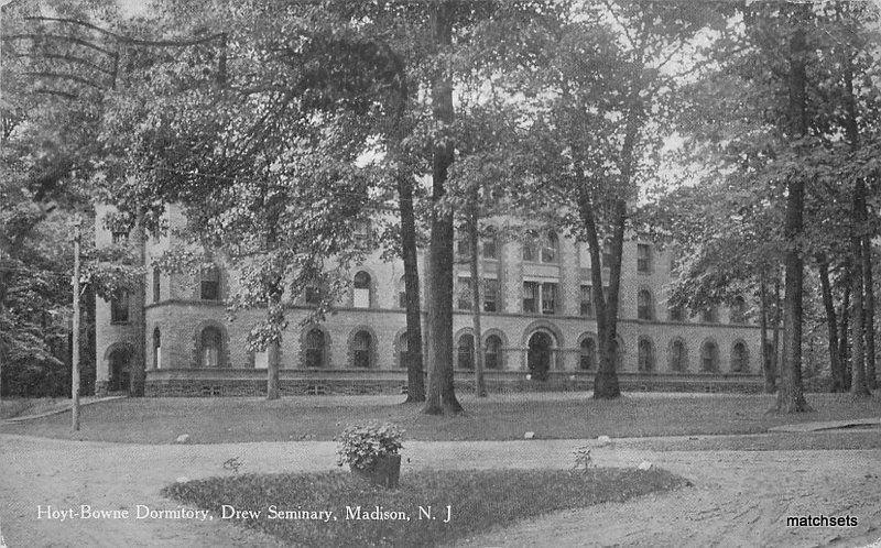 1913 Hoyt-Browne Dormitory Drew Seminary Madison New Jersey postcard 11781