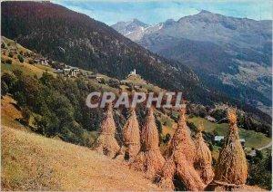 Postcard Modern Tarentaise (Savoie) The season Fenasons near the bottom of Mo...