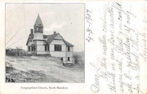 North Blandford Massachusetts Congregational Church Antique Postcard K73091