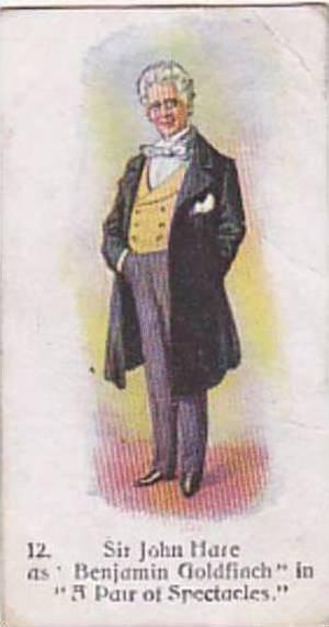 Player Vintage Cigarette Card Players Past & Present 1916 No 12 Sir John Hare