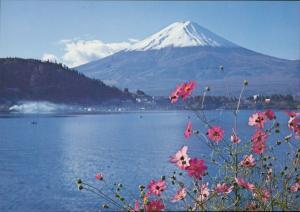 Mt. Fiji Lake Kawaguchi in autumn Japan