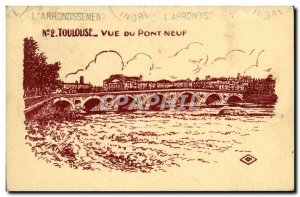 Old Postcard Toulouse for Du Pont Neuf