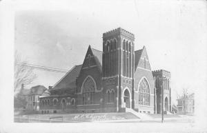 Toledo Iowa~United Methodist Episcopal Church Neighborhood RPPC 1912