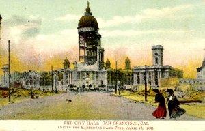 CA - San Francisco. 1906 Earthquake & Fire. City Hall