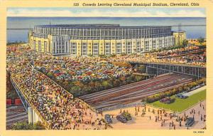 Municipal Stadium Cleveland Ohio USA Baseball Base Ball, Stadium  Postcard Po...