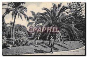 Old Postcard Monaco Garden