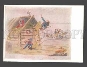 088303 RUSSIAN Caricature Napoleon unknown painter Old PC#16