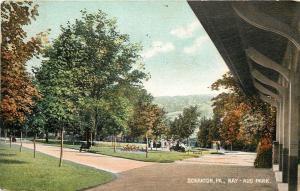 Scranton Pennsylvania~Nay-Aug Park~Ladies By Trees~Shelter House~1909 Postcard