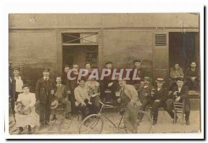 Map Photo Old Postcard Cafe Au Champenois TOP (cyclist cafe) Pyrennes