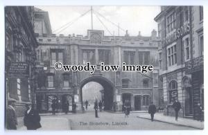 tq0318 - Lincs - The Stonebow, County Arms, & C.Pratt & Sons, Lincoln - postcard