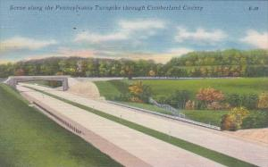 Pennsylvania Bedford Scene Along The Pennsylvania Turnpike Though Cumberland ...