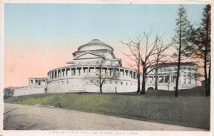 Library and Hall of Fame, Bronx, New York, early postcard, unused