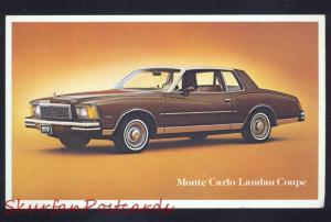 1977 CHEVROLET MONTE CARLO LANDAU COUPE CAR DEALER