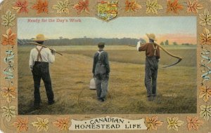 Homestead Life , Canada , 1900-10s ; Ready for the Day's Work