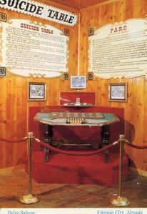 NV - Virginia City, Delta Saloon Suicide Table