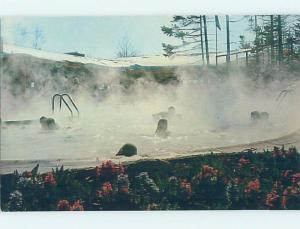 Pre-1980 SKIING - SAUNA POOL AT MAINE-BASED LODGE Mount Snow - Dover VT c4842