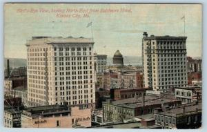 Postcard MO Kansas City Birds Eye View North East From Baltimore Hotel c1910 H22
