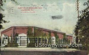 Auditorium Woodland Park Lexington KY 1910