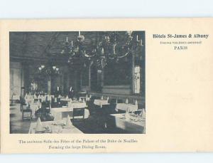 Pre-1907 ST. JAMES & ALBANY HOTEL RESTAURANT Paris France hp9283