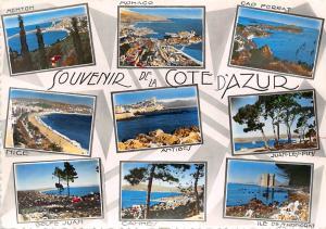 France Cote d'Azur multiviews Antibes Cannes Golfe Juan Juan les Pins