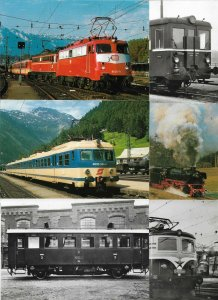 Train - Old Real Photo RPPC and Printed Postcard Lot of 45 - BS.01