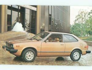 1970's Postcard Ad HONDA ACCORD CAR AC6183-13