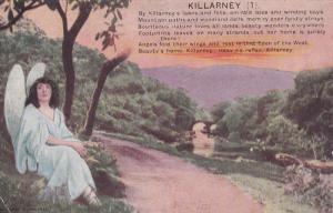 KILLARNEY, Ireland, 1900-1910's; Poem, Angel, Bridge
