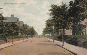 Clifton Gardens Goole in Autumn Old Bicycles Antique 1909 Postcard