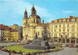 B83711 praha czech republic staromestske namesti a baroki kostel