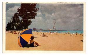 1946 Montrose-Wilson Beach, Chicago, IL Postcard