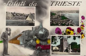 RP ; TRIESTE , Italt , 00-10s ; Multiview with train
