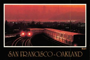 USA Postcard, BART Train transit system, San Francisco - Oakland, California GH1