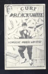 RPPC CURT BLACKWHITE KOMISCHE MUSIK NOVITAT CIRCUS OLD REAL PHOTO POSTCARD
