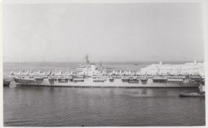 HMS Vengeance Navy Military War Ship Vintage Plain Back Postcard Old Photo