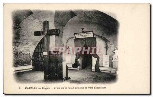 Postcard Old Crypt Cross Carmelites or did tie the father lacordaire