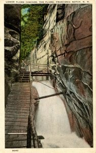NH - Franconia Notch. The Flume, Lower Cascade