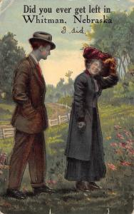 Did You Ever Get Left in Nebraska~I Did~Couple in Field~Country Road~1912 PC