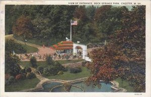 West Virginia Chester View OF Entrance Rock Springs Park