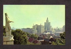 RI Providence from Prospect Terrace Postcard Rhode Island First Baptist Church