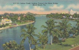 MIAMI BEACH , Florida, 1946 ; Indian Creek, Looking toward 41st Street Bridge