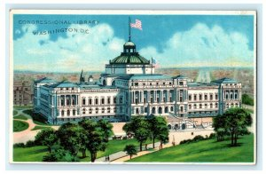 Congressional Library Washington D.C. 1909 Koehler Antique Vintage Postcard