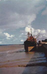 Ship, Low Water At Windsor, Nova Scotia, Canada, 1940-1960s