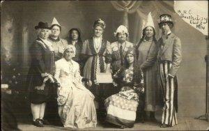Brookings SD WRC Birthday Historical Costumes Uncle Sam 1914 RPPC Postcard